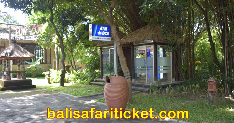 atm cash machine at bali safari marine park with jungle hopper package