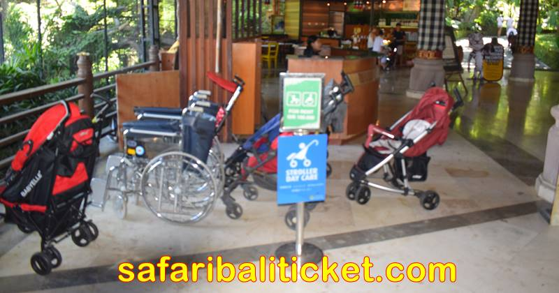 Baby Stroller & Wheel Chair rental services is available at Bali Safari and Marine Park