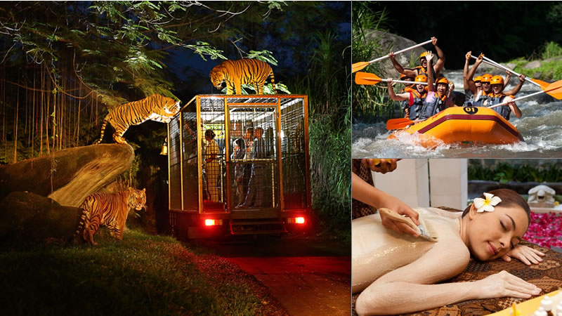 Night Safari with rafting spa package