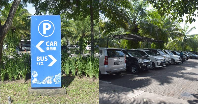 Car and Bus parking Area at bali Safari and Marine Park