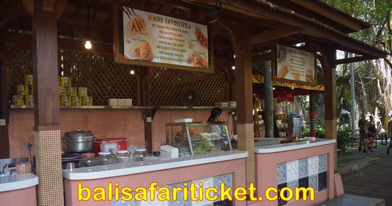 food corner at hanoman stage bali safari marine park