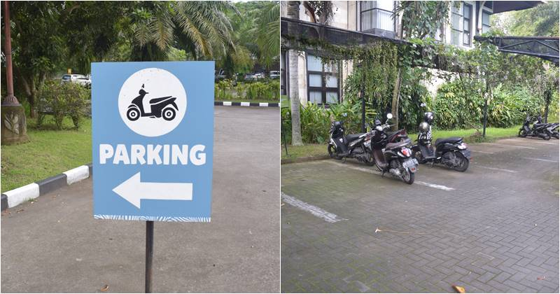 Bali Safari Marine park tickets provide Motor bike parking area for all customer