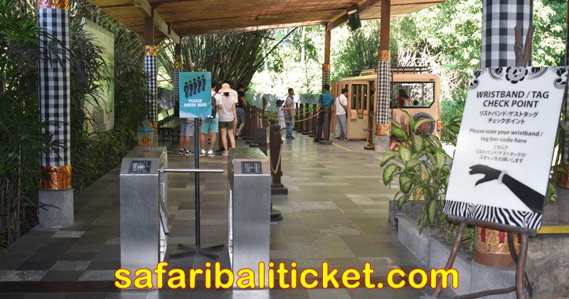 wristband checking point at Bali Safari Marine Park